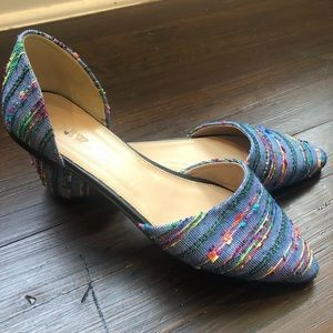 J. Crew Fabric D' Orsay Flats in Size 8